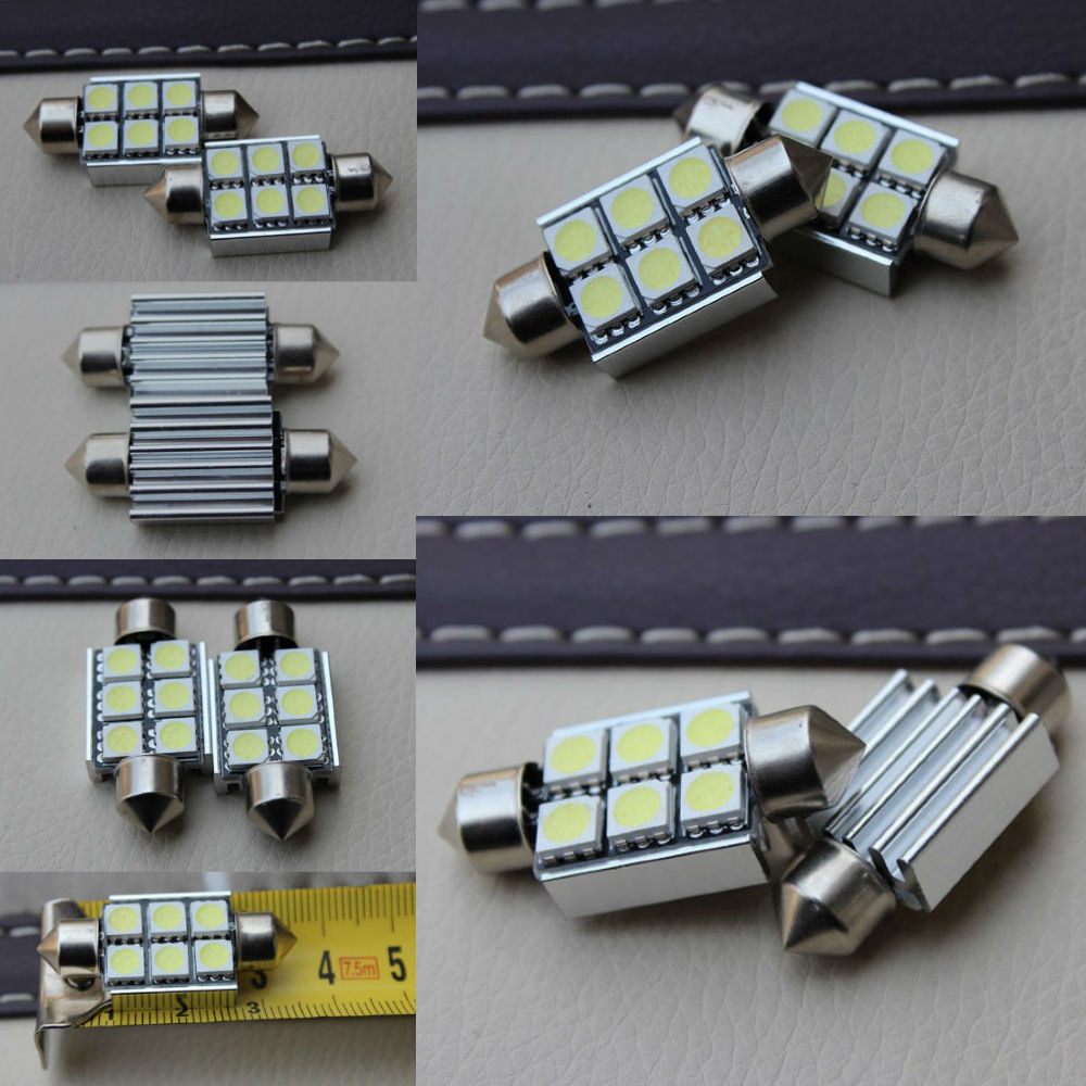 COPPIA LUCI TARGA LED SMD 36MM BIANCO GHIACCIO FORD MONDEO MK3