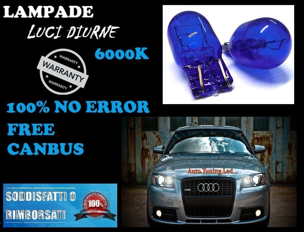 Audi A1 LUCI DIURNE T20 COPPIA NO ERROR EFFETTO XENON BIANCO