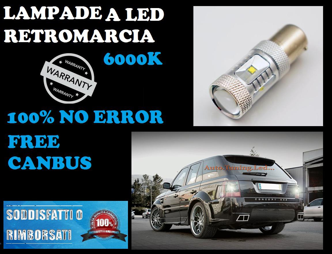 1 LAMPADA RETROMARCIA LED P21W BA15S CANBUS 6000K NO ERROR FIAT PANDA