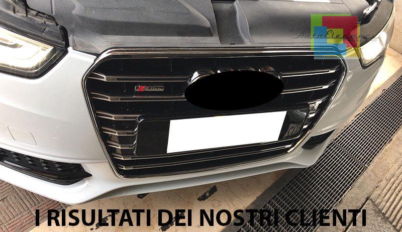 ACEOLT Griglie Anteriori Nere in Materiale ABS di Alta qualit/à con Luce a LED e griglia Frontale di Ricambio con Logo per Ford KUGA 2017